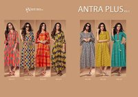 Antra Plus Vol-5 Shubh Nx Linen Print Wholesale Kurti