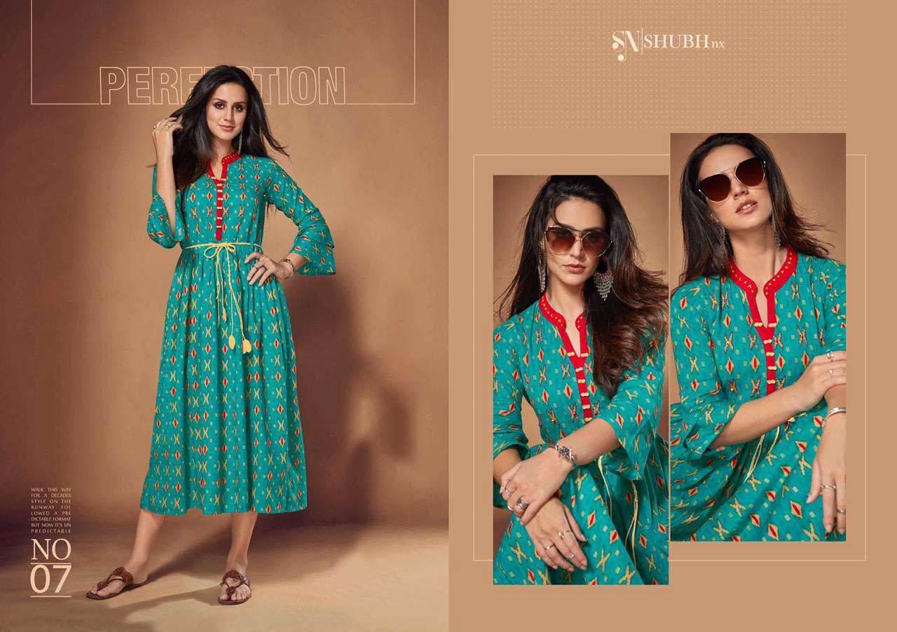 Antra Plus Vol-5 Shubh Nx Linen Print Wholesale Kurti