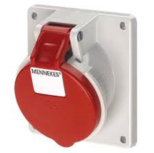 Mennekes 1390 IP44 16Amp 4Pin Industrial Socket Straight