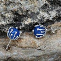 Blue Chalcedony Stud Earring PG-156258