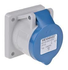 Mennekes 1395 IP44 32Amp 3Pin Industrial Socket Straight