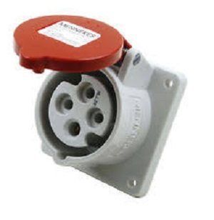 Mennekes 1399 IP44 32Amp 4Pin Industrial Socket Straight