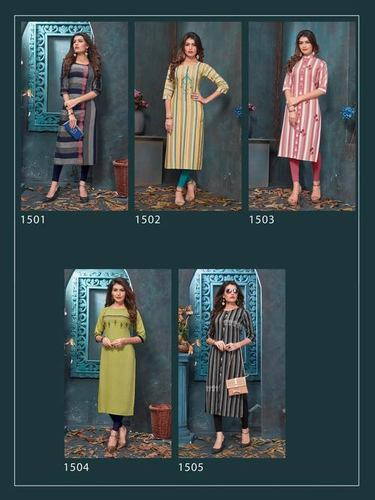 Antra RT Embroidery Casual Kurti Manufacturer