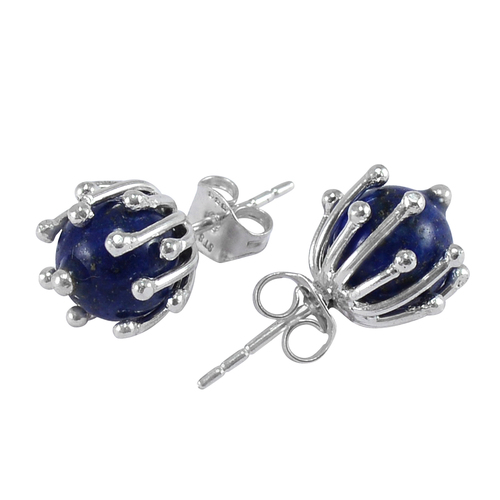 Sterling Silver Stone Studded Ear Studs