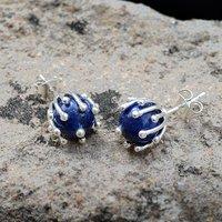 Lapis Lazuli Stone Ear Stud Earring PG-156260