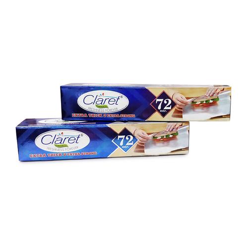Claret 72 Mtr Food Grade Aluminium Foil Roll (Pack of 2)