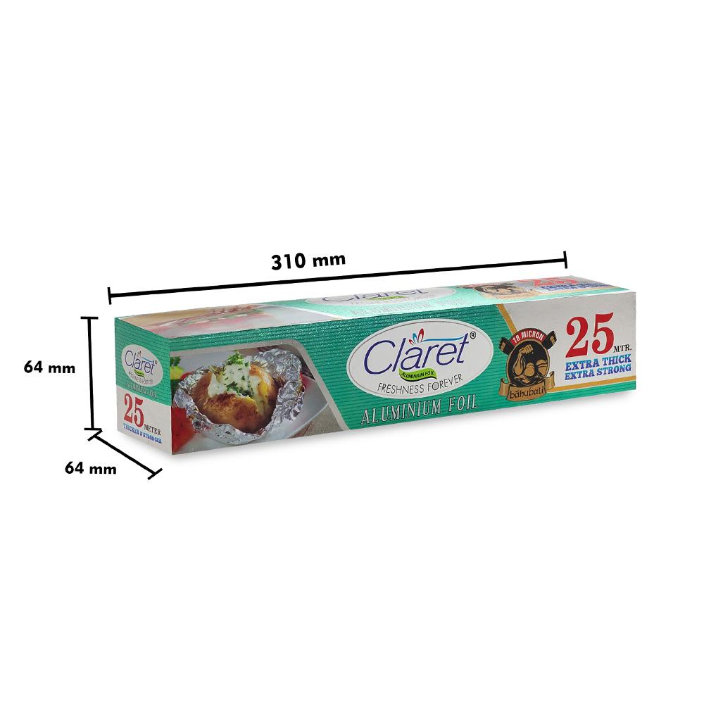 Claret Bahubali 25 Mtr Food Grade Aluminium Foil Roll (Pack of 1)