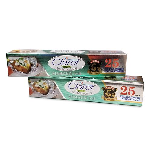 Claret Bahubali 25 Mtr Food Grade Aluminium Foil Roll (Pack of 2)