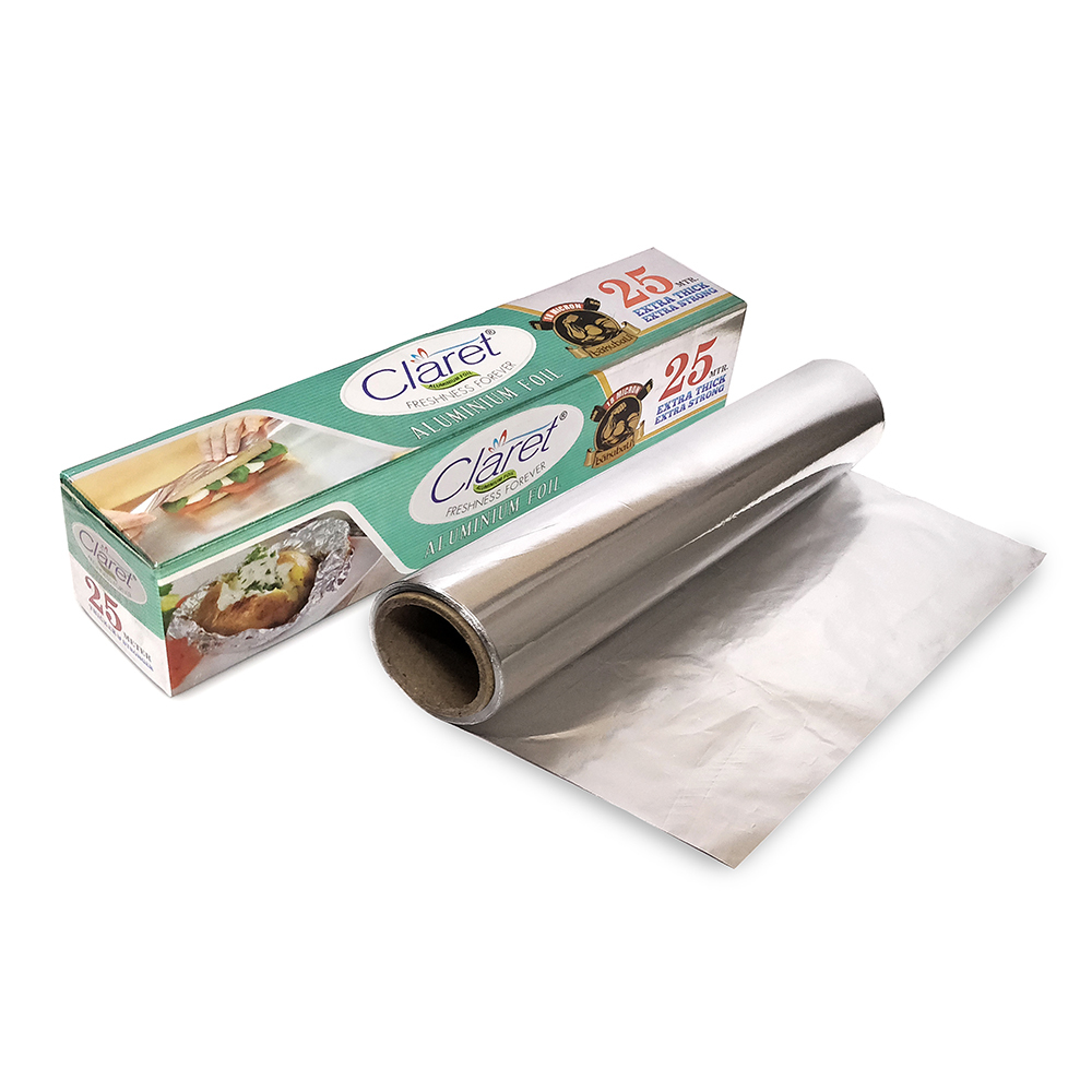 Claret Bahubali 25 Mtr Food Grade Aluminium Foil Roll (Pack of 2)