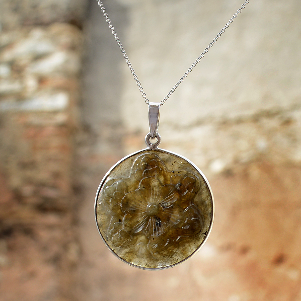 Labradorite Silver Pendant Necklace  PG-156266