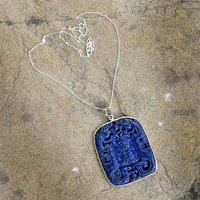 Lapis Lazuli Silver Chain Pendant PG-156267