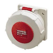 Mennekes 234 IP67 32Amp 4Pin Industrial Socket Straight