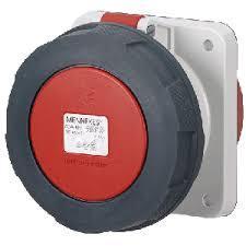 Mennekes 1128 IP67 63Amp 5Pin Industrial Socket Straight