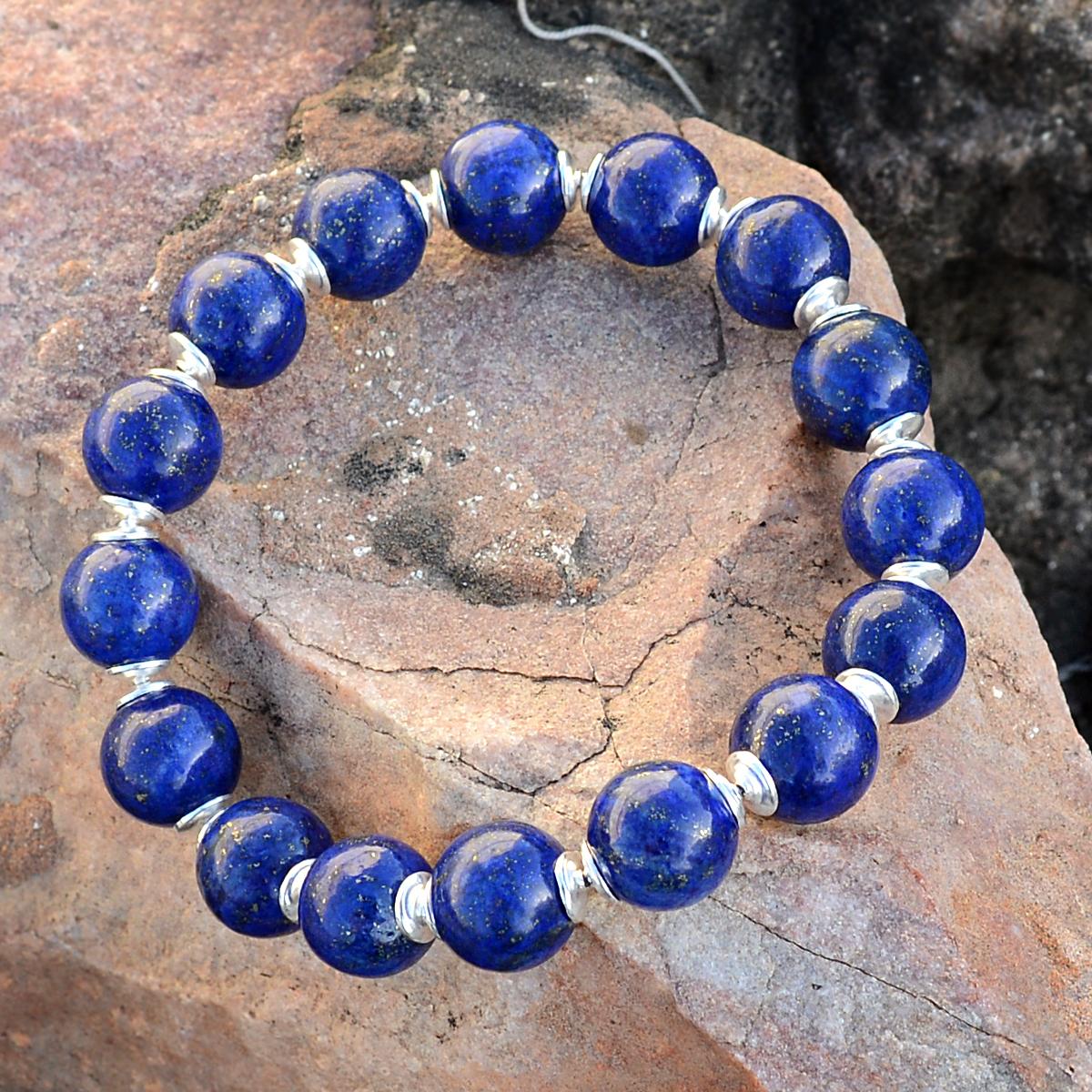 Lapis Lazuli Stone Silver Bracelet PG-156280