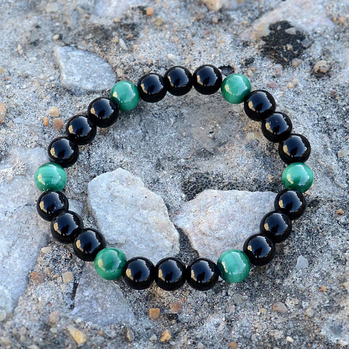 Green Tiger Eye & Black Onyx Bracelet PG-156283