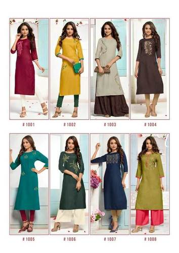 Apple Amarya Cotton Slub Wholesale Kurti