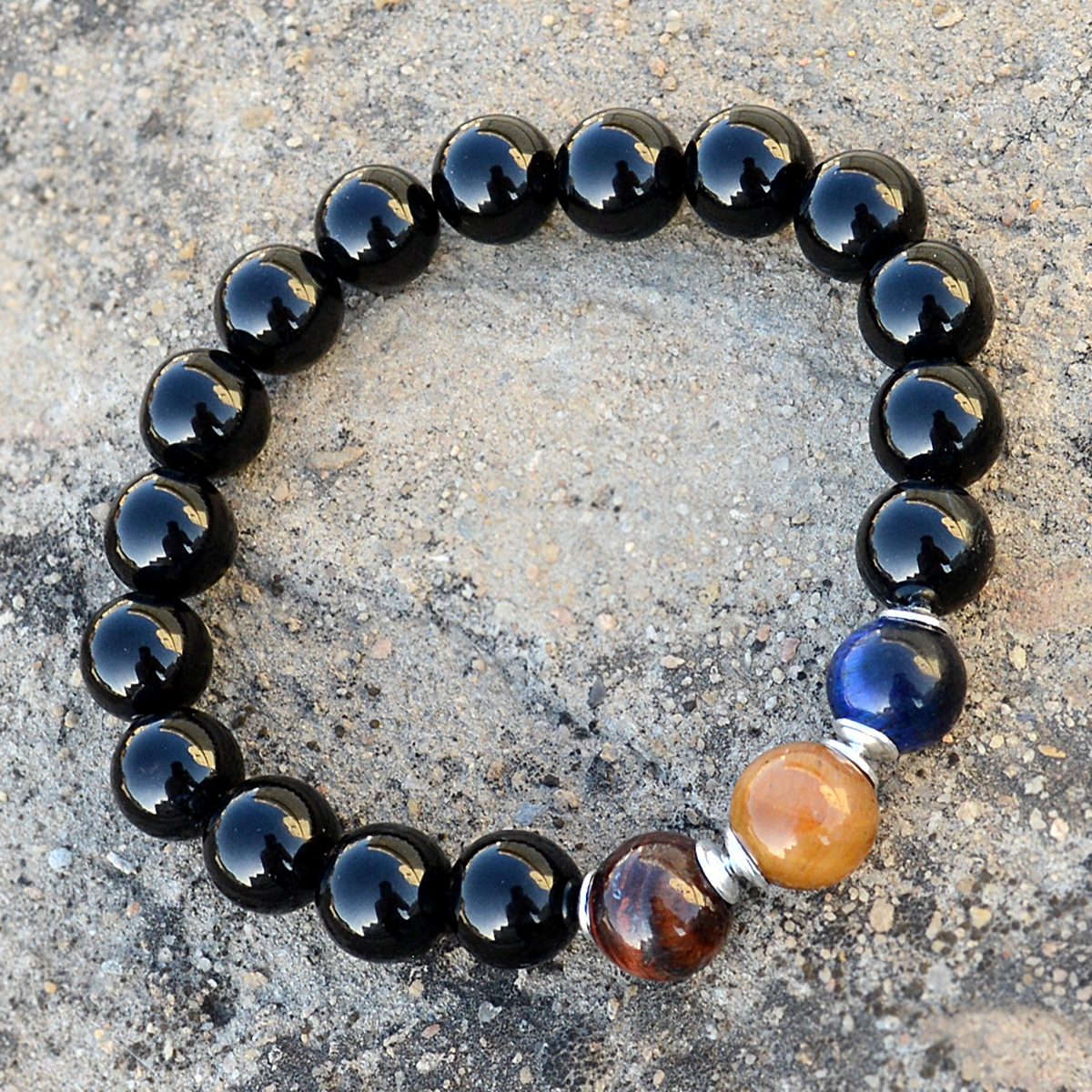 Multi Gemstone Silver Bracelet PG-156288