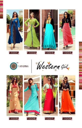 Aradhna Western Girl Kurti Set Supplier