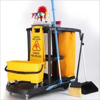Janitor Cart with Cover 1300 x 550 x 1000 mm