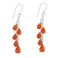 Carnelian Gemstone Silver Earring PG-156297