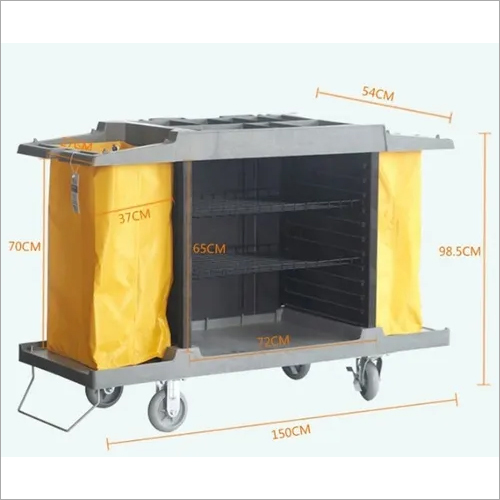 House Keeping Trolley, ABS Medium, 1500 x 540 x 985 mm