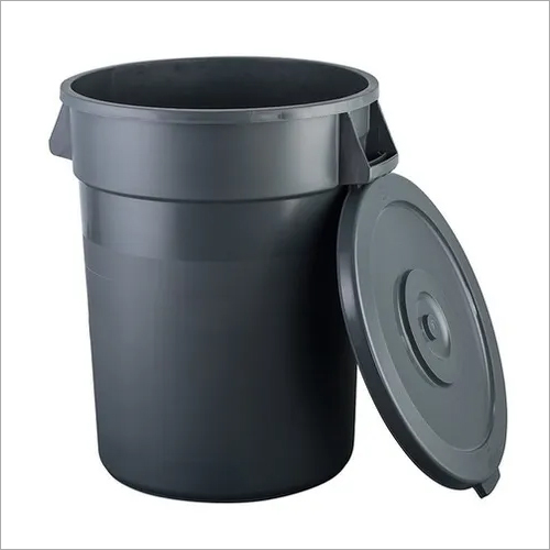 Waste Bin Round Plastic with Lid 80 Ltr. HEAVY DUTY