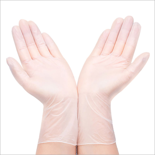PVC Transparent White Gloves