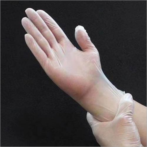 PVC Transparent White Gloves