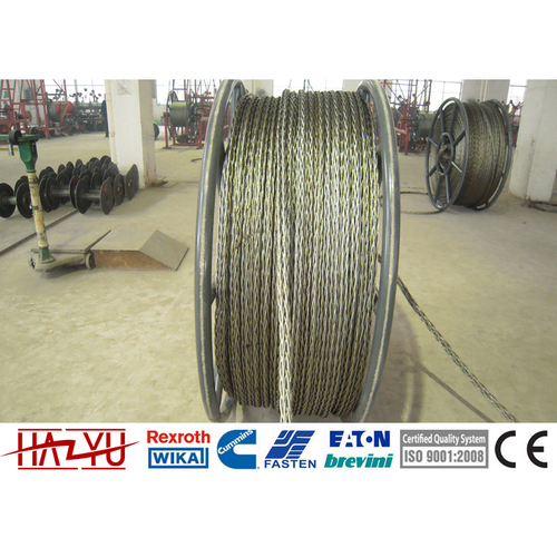 YL13-12x19W Galvanized Anti-twisting Braided Steel Pilot Wire Rope