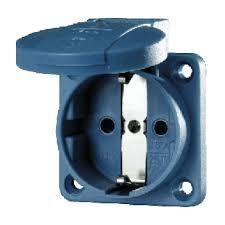 Mennekes 11031 16Amp 2Pin Schuko Socket Blue