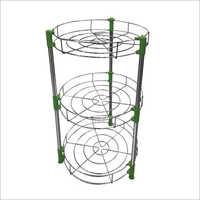 3 Basket Trole Round Trolley