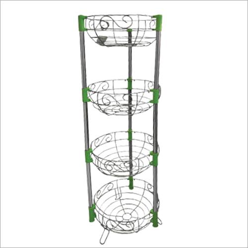 4 Basket Veggie Round Trolley