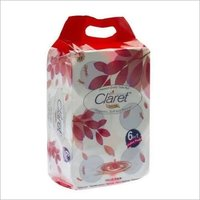 Claret Premium Quality Toilet Paper Roll (2 Ply) 6 In 1 Pack