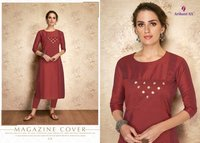 Arihant Nx Claire Viscose Silk Kurti Suppliers