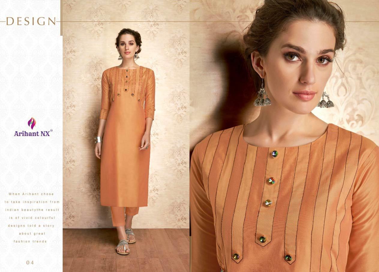 Arihant Nx Claire Viscose Silk Kurti Suppliers