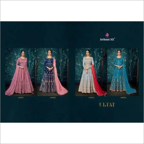 Arihant Nx Ulfat Sartin Silk Beautiful Dupatta Gown