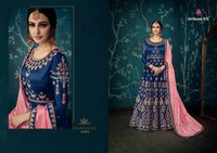 Arihant Nx Ulfat Sartin Silk Beautiful Dupatta Gown