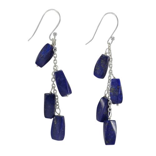 Lapis Lazuli Silver Earring PG-156314