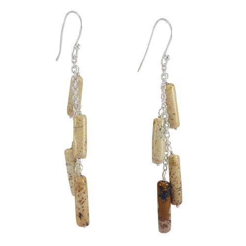 Jasper Stone Silver Earring PG-156315