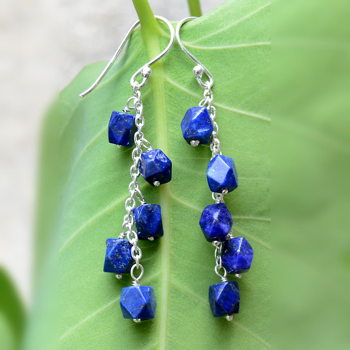 Lapis Lazuli Silver Earring PG-156316