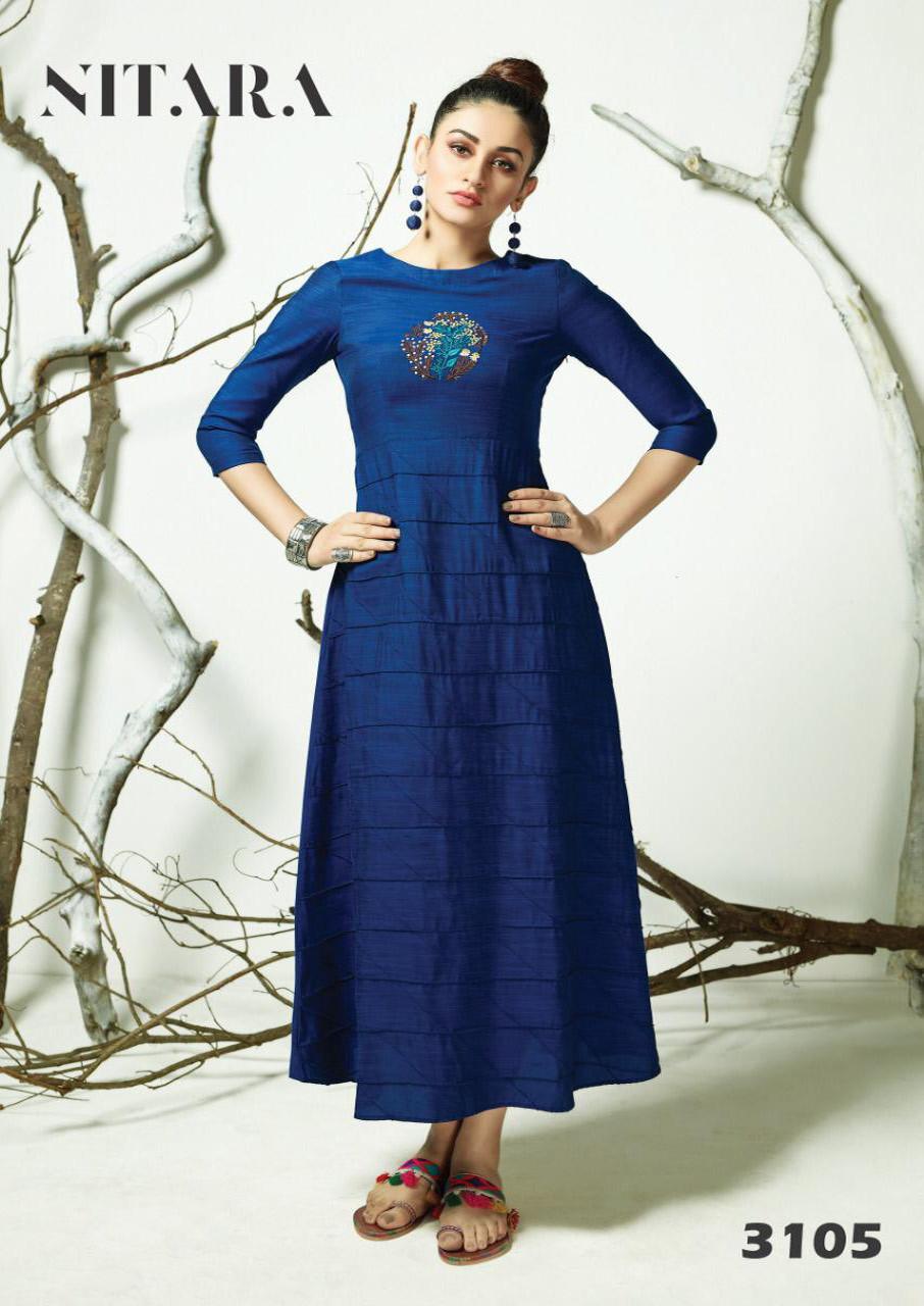 Arth Nitara Cotton Rayon Girls Wear Kurti