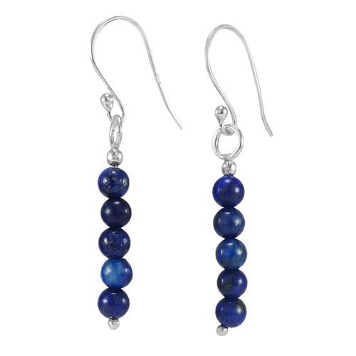 Lapis Lazuli Stone Silver Earring PG-156318