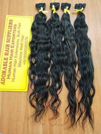 Double Drawn Non Remy Indian Hair