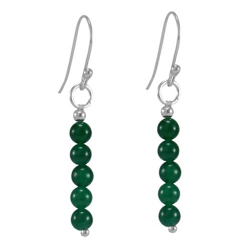 Green Onyx Gemstone Earring PG-156326
