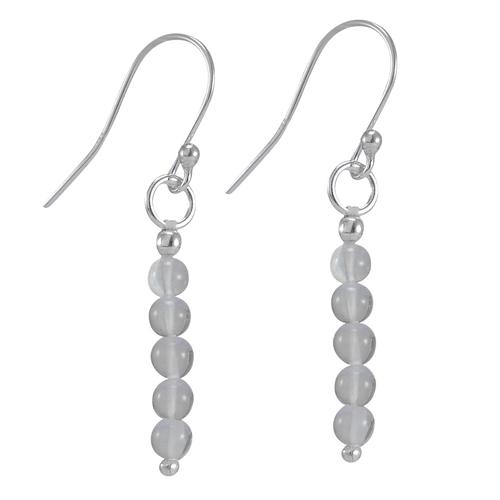 Crystal Quartz Silver Earring PG-156327