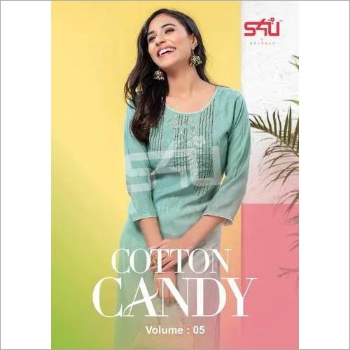 Cotton Candy Vol-5 Liquid Slub Wholesale Kurti