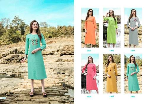 Glory Liquid Cotton Wholesale Kurti Catalog