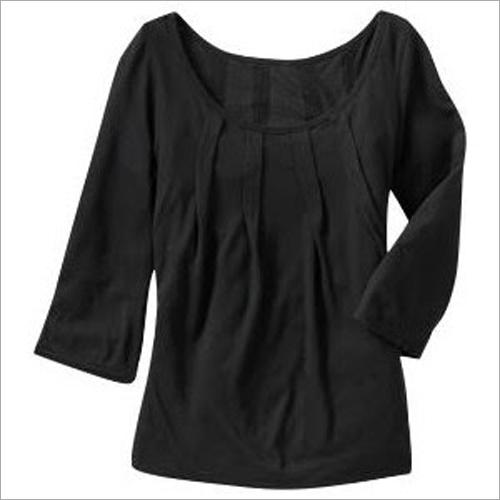 Ladies Black Cotton Top