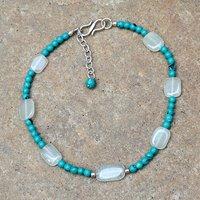 Turquoise & Quartz Silver Bracelet PG-156339