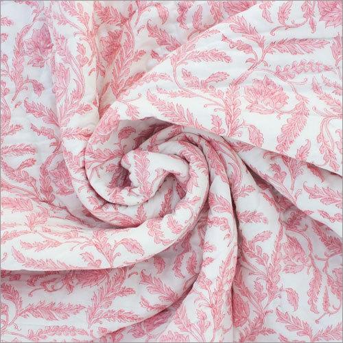 Pink Floral Block Print Quilt